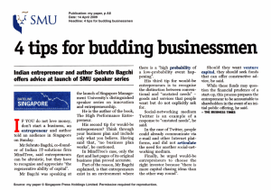 4 tips for budding businessmen - Singapore Management University