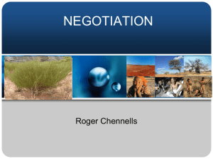 Negotiation - ABS Initiative