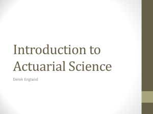 Introduction to Actuarial Science