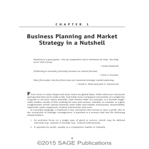 Business Planning and Market Strategy in a Nutshell