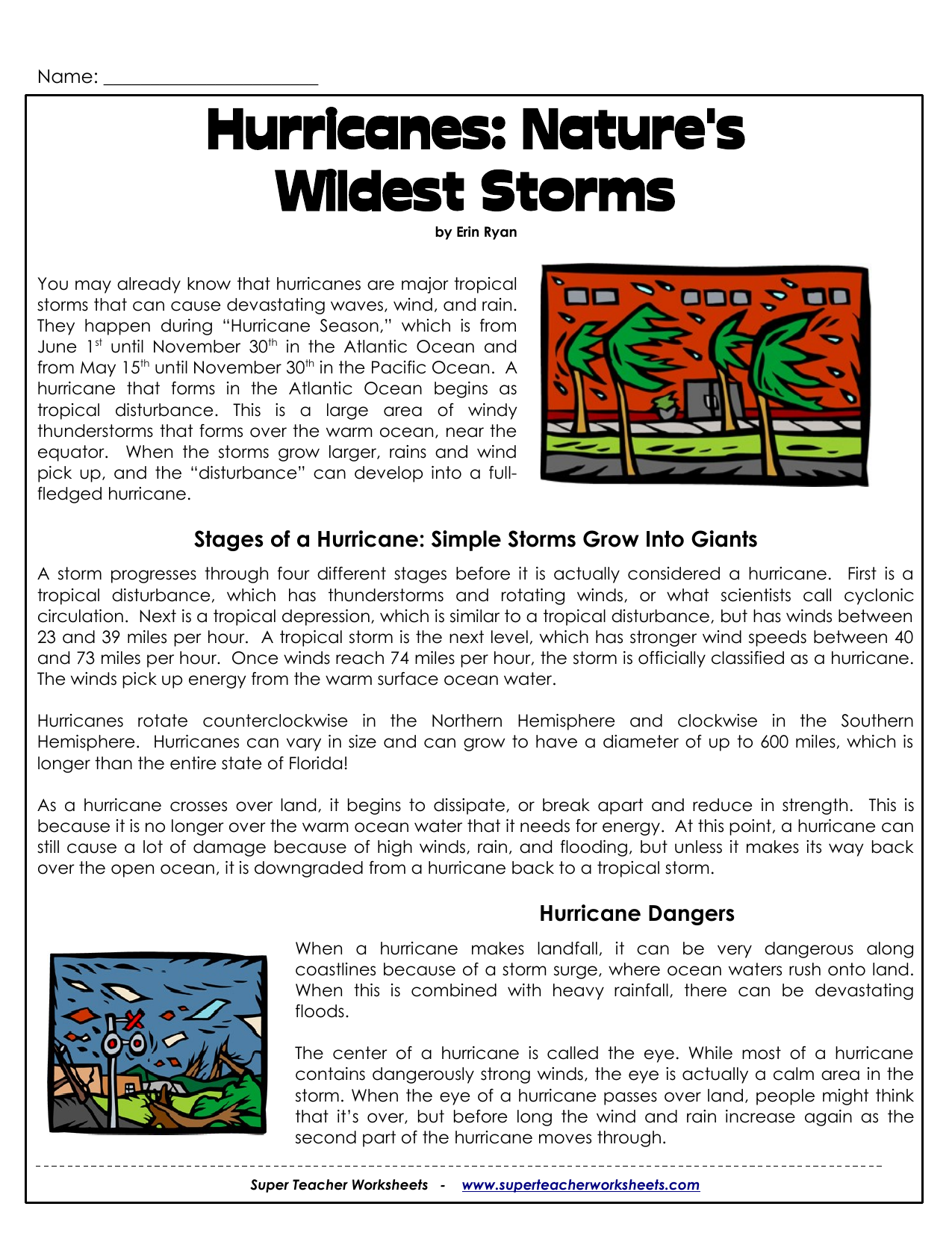 Uncategorized Hurricane Worksheets hurricanes natures wildest storms