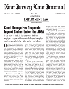 Court Recognizes Disparate Impact Claims Under the ADEA, as