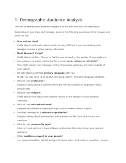 1. Demographic Audience Analysis