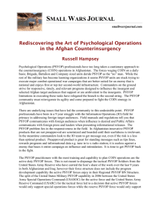 Rediscovering the Art of Psychological Operations