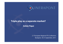 Triple play as a separate market?