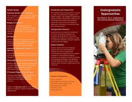 Undergraduate Brochure - Department of Civil and Environmental