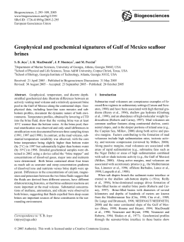Geophysical and geochemical signatures of Gulf