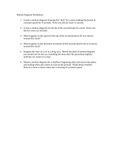 Motion Diagram Worksheet 1. Create a motion diagram
