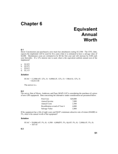 Chapter 6 Equivalent Annual Worth