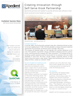 QuickChek Case Study