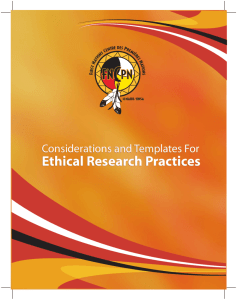 Considerations and Templates for Ethical Research Practices