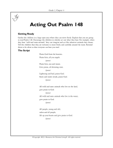 Acting Out Psalm 148