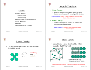 Atomic Densities - Concordia University