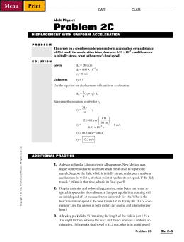 holt physics problem 2b rh studylib net Holt Physics Answers Holt Physics PowerPoints