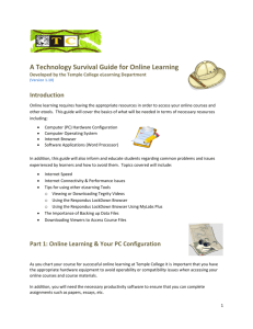 A Technology Survival Guide for Online Learning