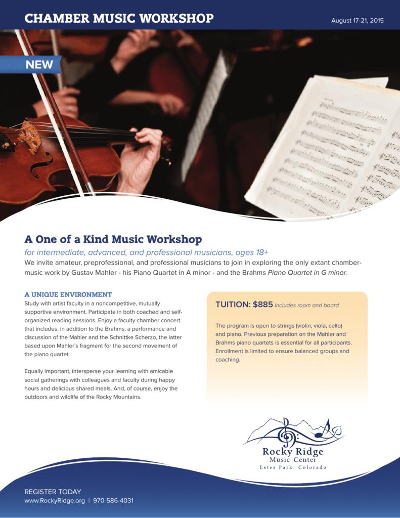 chamber music workshop - Rocky Ridge Music Center