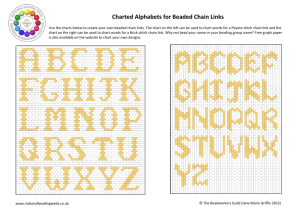 Charted Alphabets for Beaded Chain Links