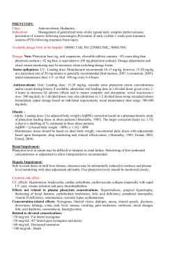 Phenytoin Toxicity Usmle