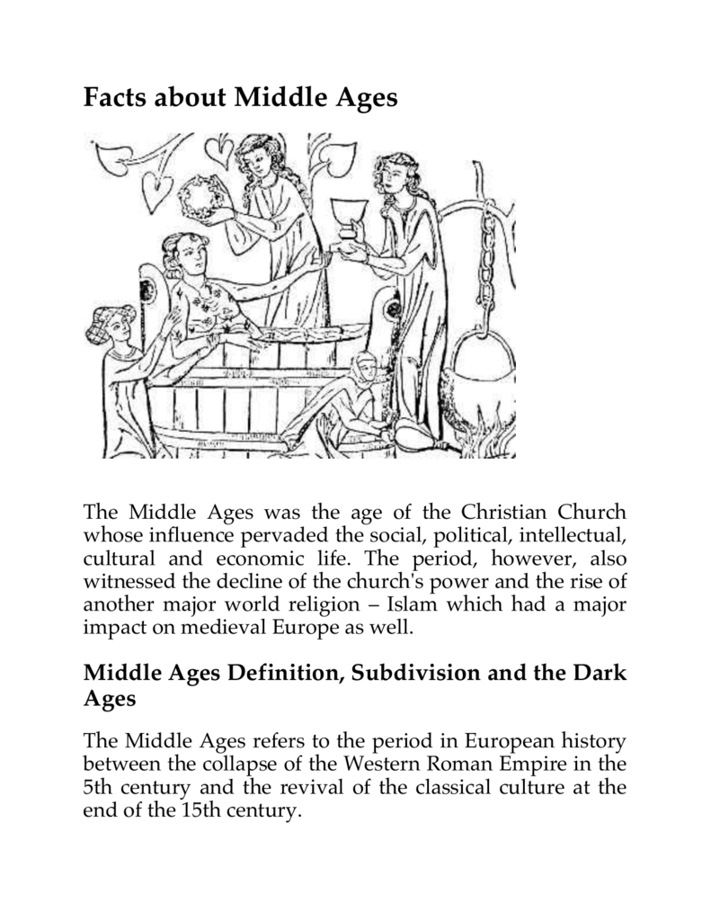 Facts About Middle Ages