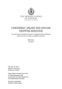CONSUMERS´ ONLINE AND OFFLINE SHOPPING BEHAVIOR