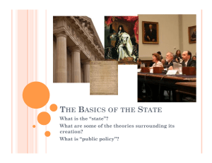 THE BASICS OF THE STATE