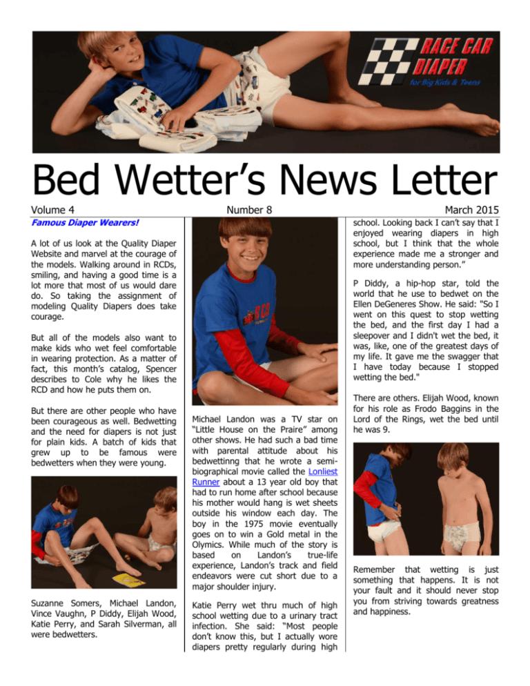 Bed Wetter S News Letter