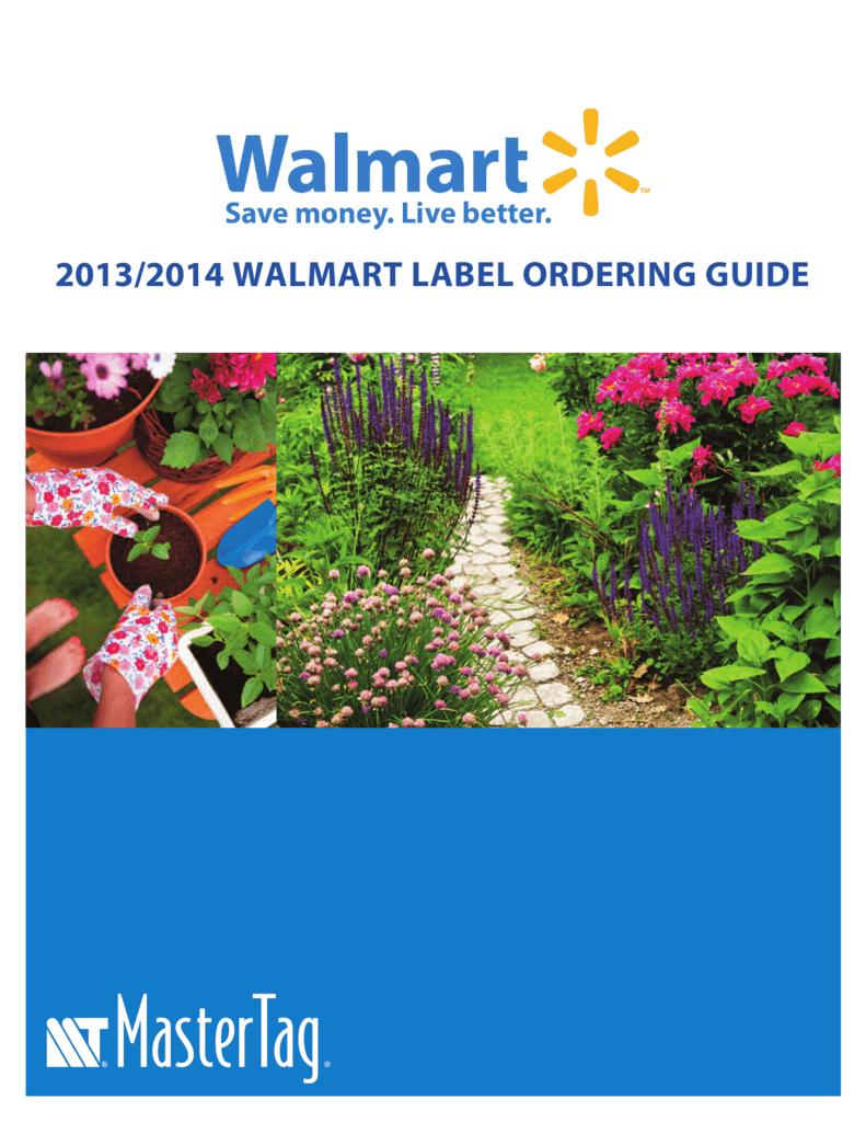 20132014 Walmart Label Ordering Guide