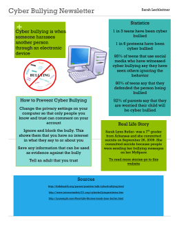 Cyber Bullying Newsletter