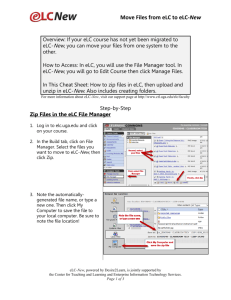 Move Files from eLC to eLC-New - Center for Teaching and Learning