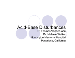 Acid-Base Disturbances - Physicianeducation.org