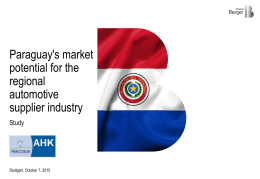 Paraguay's market potential for the regional automotive supplier
