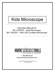 Kids Microscope - Home Science Tools