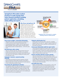PM Brochure - Spring Medical Systems