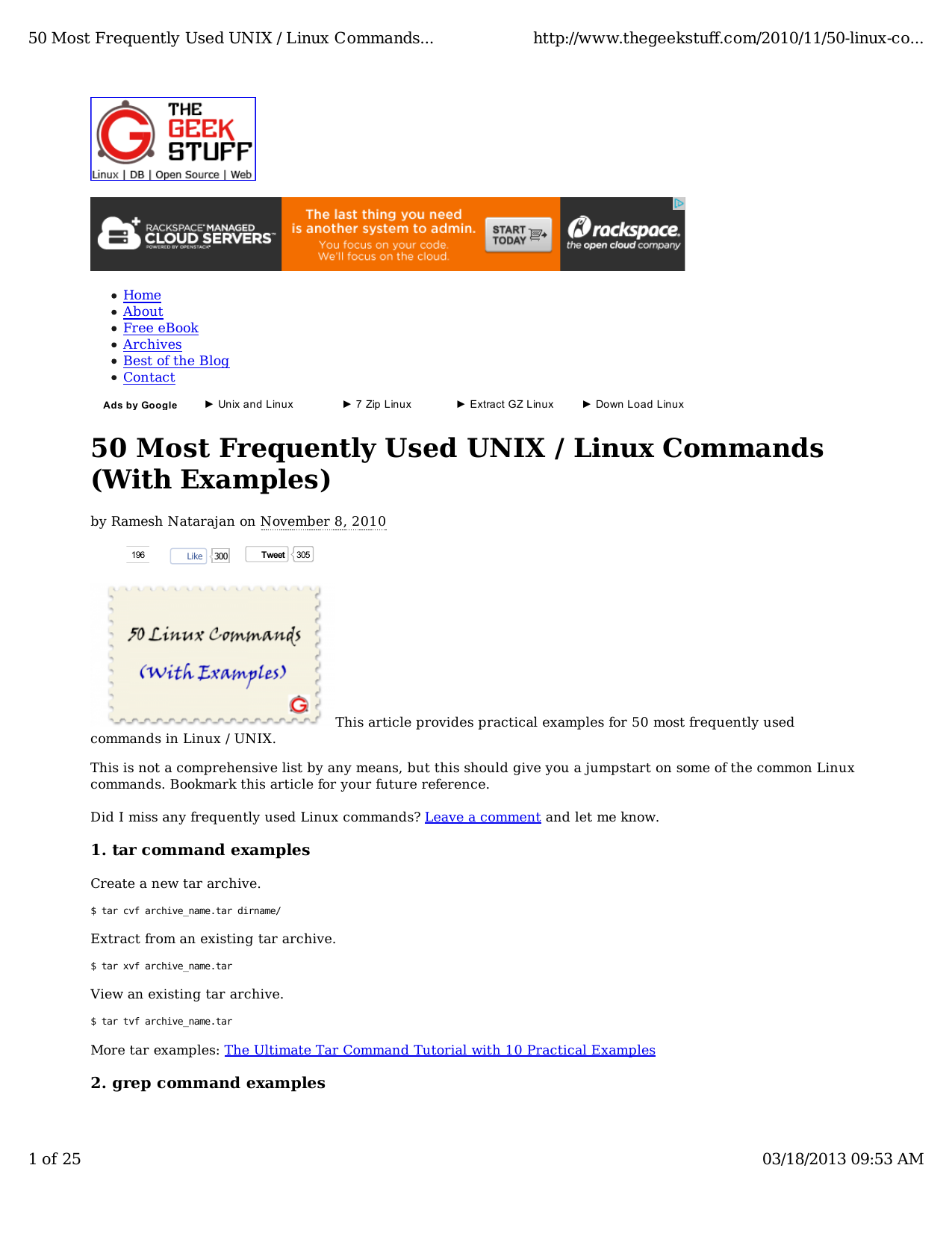 50 Most Frequently Used UNIX / Linux Commands (With Examples)