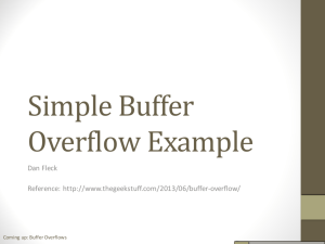 Buffer Overflow Slides