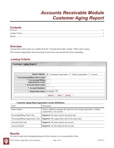 Accounts Receivable Module Customer Aging Report