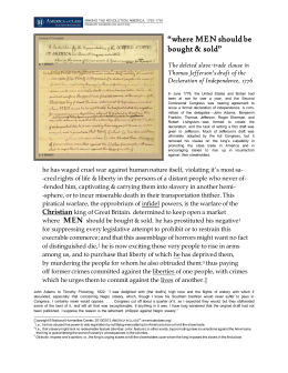 The anti-slavery clause in Jefferson's draft of the