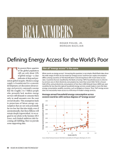 Defining Energy Access for the World's Poor