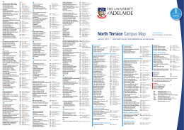 North Terrace Campus Map