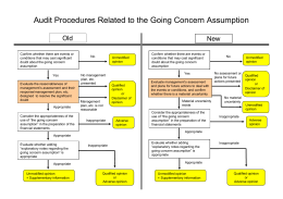 Audit Procedures Related to the Going Concern Assumption (PDF
