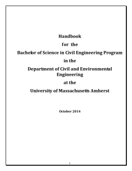 Undergraduate Handbook - Civil and Environmental Engineering