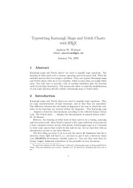 Typesetting Karnaugh Maps and Veitch Charts with LATEX