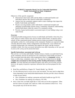Appendix 33 Family Assessment Case Study Assignment