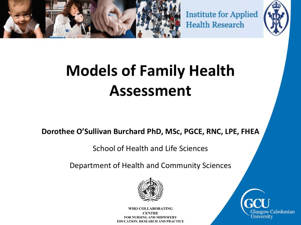 Models of Family Health Assessment