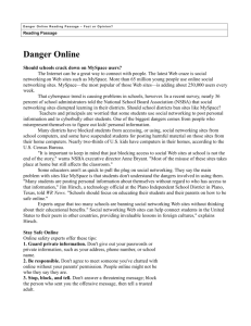 Danger Online Reading Passage
