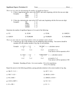 Significant Figures Practice Worksheet Answers 24 New Calculations furthermore Significant Figures Worksheet as well Math Handbook Transparency Worksheet Significant Figures Answers New additionally Rounding Significant Figures besides Significant Figures and Conversions further Significant Figures additionally Significant Figures Worksheet Answers Significant Figures moreover KateHo » Unit  Introduction To Chemistry Ppt Download calculations additionally  likewise Rounding to a given number of significant figures by jhofmannmaths additionally Significant Figures Worksheet Glen Oaks   Livinghealthybulletin in addition  as well  further Measurement and Uncertainty together with Significant Figures Worksheets   Printable Significant Figures in addition . on significant figures worksheet with answers