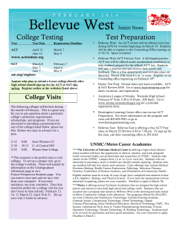 Bellevue West Junior News