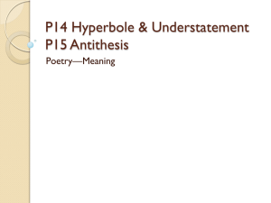 P14 Hyperbole & Understatement P15 Antithesis