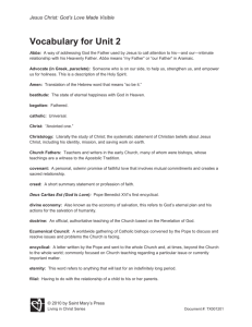 Vocabulary for Unit 2