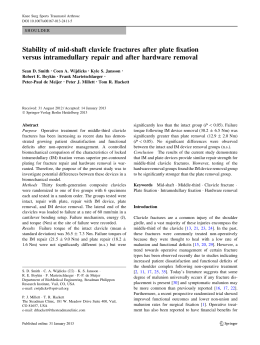 Stability of mid-shaft clavicle fractures after plate fixation versus